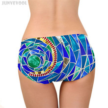 Hot Sexy Woman Underwear Sexy Women Normal Underwears Diamond Printed G-string Floral Panties Briefs Lingerie Underpants New