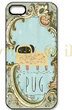 Pug In Mirror Classical Luxury Charm Customized Hard Plastic Phone Case Cover for iphone 4 4s 5 5s 6 6 plus