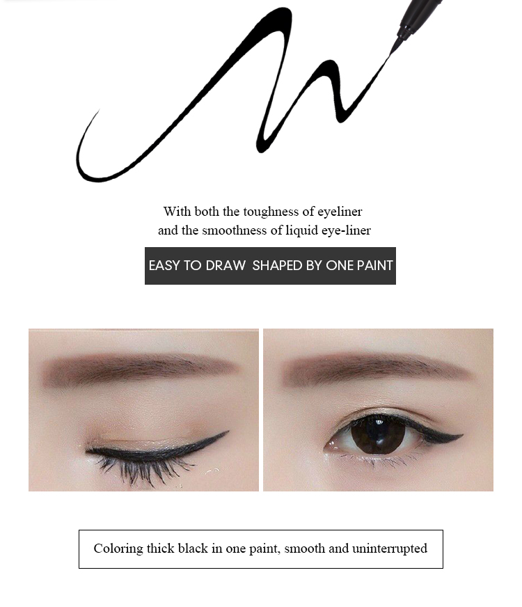 1pc Black Waterproof Liquid Eyeliner | Make Up Beauty Comestics 9