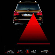 Car Anti-collision Laser Fog Light Auto Anti-fog Parking Stop Braking Signal Indicators Motorcycle LED Warning Light Car-Styling