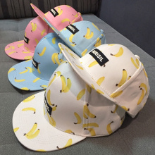 High quality fruit banana ananas peach printing cap fashion burisil letter hip hop baseball hat brand snapback for men and women