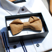 New Free Shipping fashion casual Men's MALE Log reconstruction design imported timber wood bow tie wedding gift party special