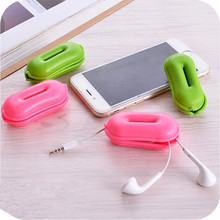 2PCS Earphone Line Organizer Box Data Line Cables Storage Box Case Container Organizer Headset Wire Storage Silicon Boxes 99