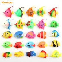 Home Aquatic Pet Supplies Decorations Mini Plastic Swimming Tropical Goldfish Fish Aquarium Landscape Model 20pcs/lot(China)