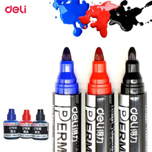 Deli refilling permanent waterproof round toe Instantly dry graffiti add oil ink sharpie paint colored marker pen for tire paper