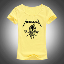 Buy 2017 Classic Heavy Metal Rock Metallica T Shirt women cotton short sleeve tees fashion summer style tops brand Camisetas F66 for $6.59 in AliExpress store