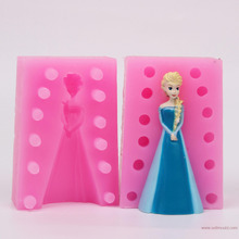 Frozen 3D Girl silicone candle molds resin craft mold girl angel moulds cake decorating tools bksilicone FM1175