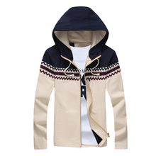 2017 ChoynSunday New Arrival Top-End Fashion Man's Jacket Long-Sleeve Zipper Hooded Casual Coat for Male Plus Size XXXXXL