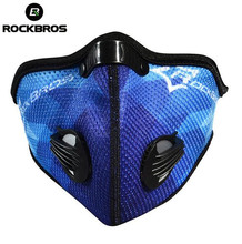 Hot Rockbros Cycling Face Mask Outdoor Sports Windproof MTB Road Motorcycle Bike Mask Anti Pollution Winter Running Bicycle Mask