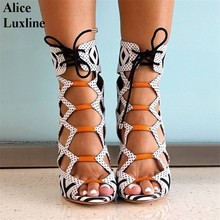 2017 New design women Super High Heels Sandals Zebra stripes Europe lady peep toe sexy Catwalk shoes 34-43 size top quality pump