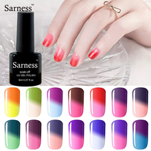 Sarness Lucky Gel Varnish 8ml Chameleon Temperature Change Enamel Permanent 29 Color UV Gel Polish Soak-off Need LED Lamp