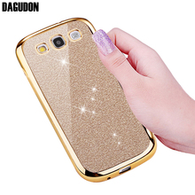 DAGUDON Phone Case For Samsung Galaxy S3 Luxury Glitter Rose Gold Silicone Soft TPU Cover For Samsung S3 Neo Skin bag(China)