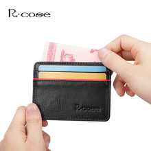 New Genuine Leather Women Men Wallet Business Card Holder Bank Credit Cardholders Bus Card Holder Slim Multi-card-bit Pack Bag
