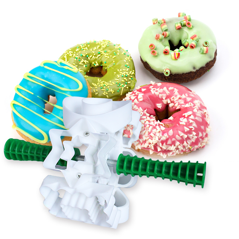 Rollving Heavy Duty plastic Donut Cutter Mold Doughnut Maker Tool Rolling Donut(China (Mainland))