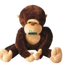 Dorimytrader 43'' / 110cm Cute Large Plush Animal Monkey Toy Stuffed Big Apes Orangutan Toy Nice Baby Gift Free Shipping DY61047