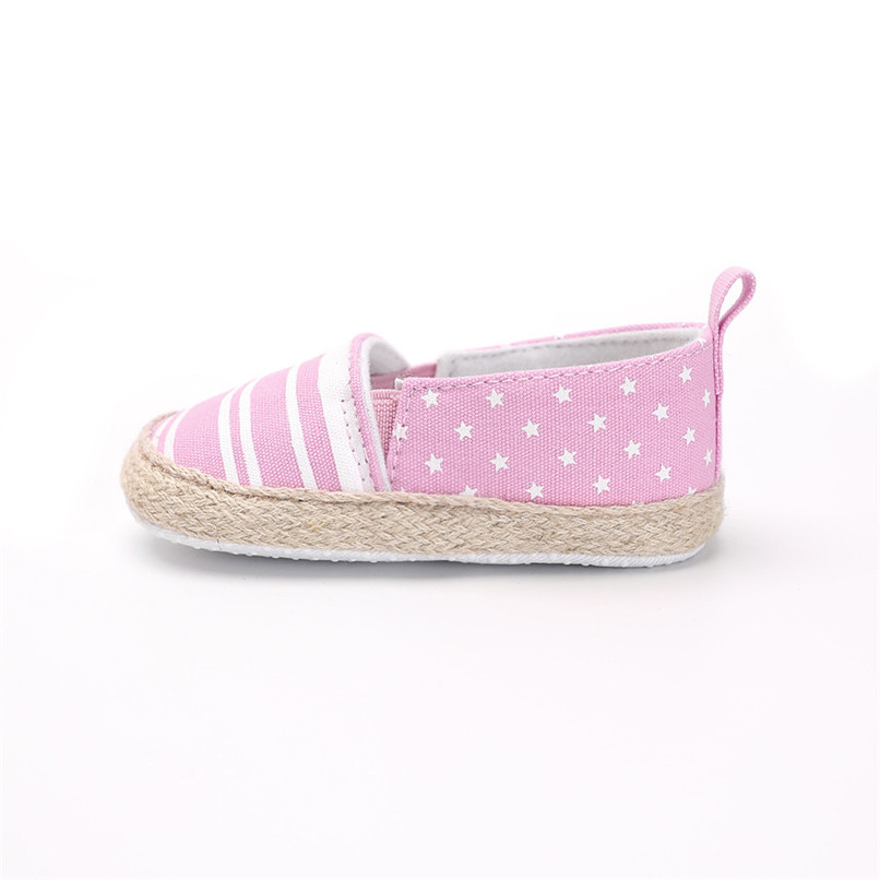 Baby Girl Shoes Toddler Infant Baby Girl Dot Striped Crib Shoes Soft Sole Anti-slip Single Shoes Baby First Walker Shoes M30#F (20)