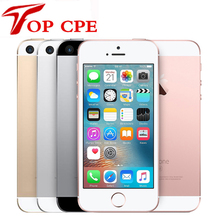 "SE Original Unlocked Apple iPhone SE Cell Phone 4G LTE Mobile Phone Dual Core 4.0"" 12MP A9 iOS 2G RAM 16/64GB ROM Smartphone(China)"