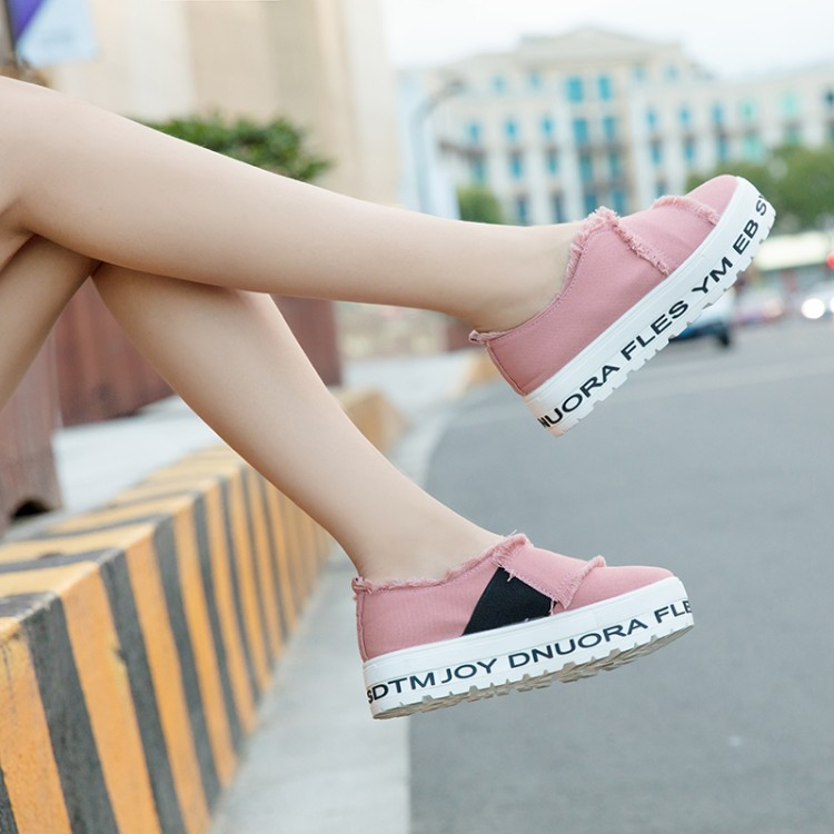 Ladies Platform Flats Shoes Female Creepers Women Tessel Canvas Loafers 2017 Casual Shoes Footwear Zapato Mujer Sapato Feminino(China)