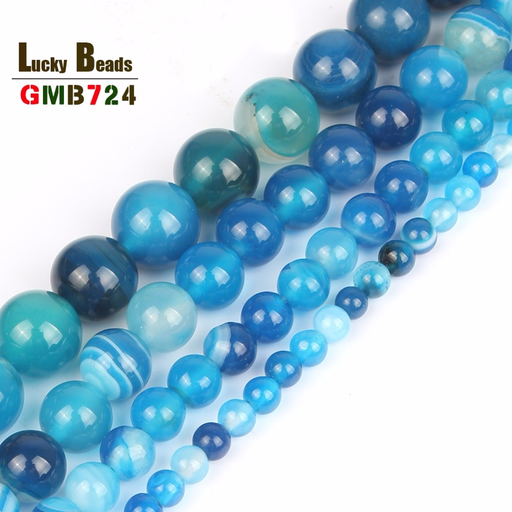"""Round 6mm Blue Turquoise/&Round 6mm/&8mm Onyx Necklace 100/"""""""