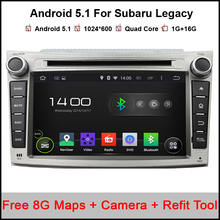 7'' Quad core 1024X600 Android Car DVD GPS for Subaru Legacy Outback with BT RDS Mirrior-Link Wifi 3G host Free 8GB Map card(China)
