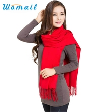 Womail New Fashion Fashion Women's Cashmere Wool Blend Warm Scarf Wrap Shawl Red Black June12 Drop Shipping