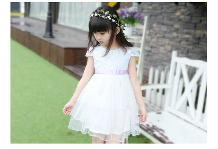 Minnie Promotion Chiffon Elsa 2015 New Arrival Summer Party Dress Costume Kids Clothes Princess Ready In Stock Free Shipping <br>