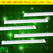 20pcs/lot 36w LED Purifying Lamp 28W integrated Three anti-lamp Tube 18W Led Dustproof 4ft 1200MM For Hotel,Warehouse,School DHL