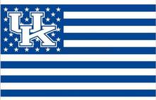 Kentucky Wildcats Stars & Stripes Nation Baseball Flag 3X5FT NCAA banner white sleeve with 2 metal Grommets 90x150cm(China)