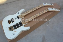 New arrival kramer double slider electric guitar 6 6 string single shake shaking customize white pick-up single(China)