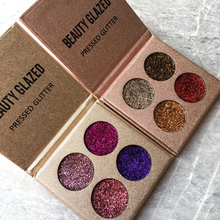 Beauty Glazed Glitter Eyeshadow Brand Palette High Pigments Long Lasting Waterproof 4 Color Shining Shimmer Eye Shadow Makeup