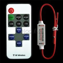 12V RF Wireless Remote Control In-line Led Strip Dimmer 10-Level Bright Speed Led Switch Module Voltage Regulator Dimmers