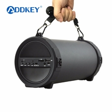 ADDKEY Outdoor Bluetooth Speaker 2000mAh Power Bank 89mm Big Bass Wireless Portable Subwoofer Bike Car Speakers with FM Mic(China)