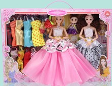Barbie doll set gift box doll girl princess wedding dress had every family children 's toys