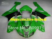 For 2007 2008 KAWASAKI Ninja ZX6R 07 08 ZX-6R 07-08 ZX 6R 636 6R 07 08 COL Green black Fairing kit