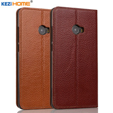 Xiaomi mi Note 2 case KEZiHOME Litchi Genuine Leather Flip Stand Leather Cover capa For Xiaomi Mi Note2 Prime Phone cases coque(China)