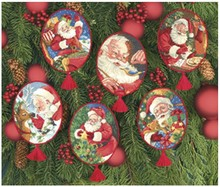 Top Quality Lovely Counted Cross Stitch Kit Ornament Santa Father Gift Christmas Tree Ornaments Dim 08755(China)