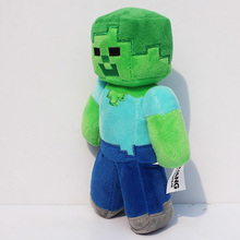 "Wholesale 1PC 2016 New Design Hot sale 18cm/7"" Minecraft Steve Creeper Zombie Soft Plush Toy Doll Xmas Gift GAME For Baby Girl(China)"