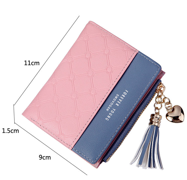2018 Fashion Ladies Wallet Female Short Zipper Coin Purse Small Wallets Young Womens Tassel Hasp Purses Button Card Holder Pouch 67