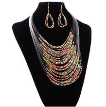 2016 Buys Fishing Line Bead Jewelry Retro Pendant Long Necklace Necklace Set Women Cheap Wholesale Jewelry Free Shipping(China)