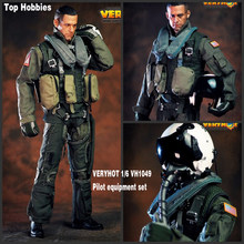 HOT FIGURE TOYS VERYHOT 1/6 VH1049 101st US Navy combat squadron pilot Equipment suit Dark Sickle Hand/Relentless Reaper Death(China)