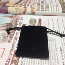 6.5*8cm 100pcs/lot free shipping Black velvet jewelry bag wholesale cheap drawstring bag small velvet bag for gift jewelry