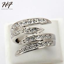 Top Quality R114 Life Together Crystal Ring Silver Color Austrian Crystals Full Sizes Wholesale(China)