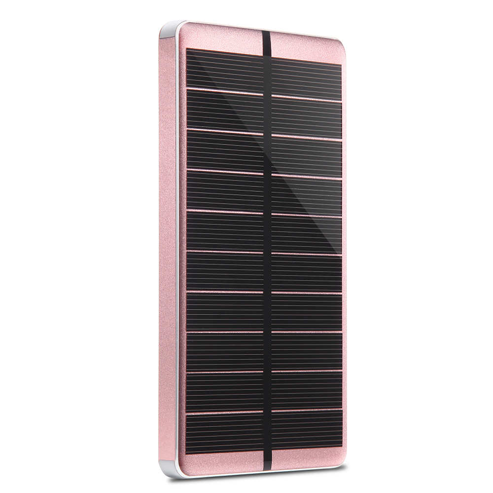 PowerGreen Sunlight Solar Power Bank 10000mAh Thin Solar Charger External Battery Backup Phone