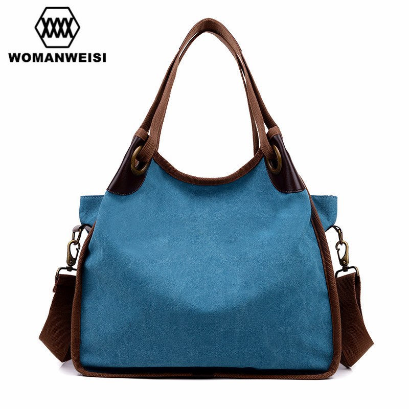 2017 Canvas Women Bag Casual Women Messenger Bags Designer Brand Vintage Fashion Womens Crossbody Bag Shoulder Handbags<br>