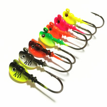 100pcs/lot 2016 High Quality Fishing Jigging Lure Metal Jig Head Hook Saltwater Fishing Lures Sale Carp Fishing7g/10g/14g(China)