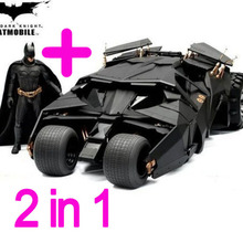 Two In One Awesome Batman Tumbler Batmobile Toy Action Figure PVC With Sticker As Gift(China)