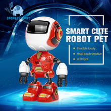 DODOELEPHANT Alloy Robot Electronic Toys With Touch-sensitive Function LED Light Astronaut Toys For Children Gift For Kids(China)