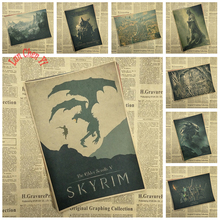 The Elder Scrolls V Skyrim Classic game Kraft Paper Poster Bar Cafe Living Room Dining room Decorative Paintings(China)