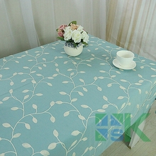 Embroidered Embroidery Tablecloth Square Rectangular Crochet Dinner Table Cover Blue Leaf Table Cloth Home Textile