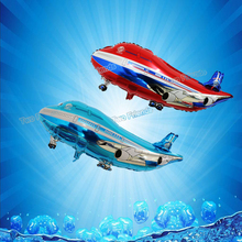 5pcs/lot 42*82cm Airplane helicopter foil balloons flying plane ballon birthday party decorations kids inflatable helium balls